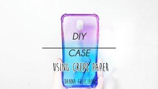 OMBRE DIY PHONE CASE USING CREPE PAPER