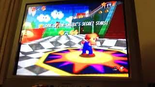 Let's play super Mario 64 part 2 womp or thwomp