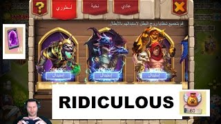 5 Total Demogorgons Crazy Account Bazzar IS NUTS On Arabic Server Castle Clash