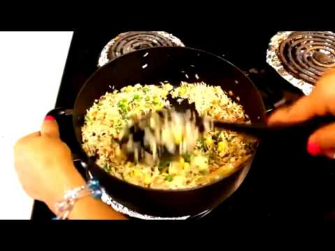 Quick Easy to Cook Healthy Foods ~ Vegetable Rice Recipe ~ Snack Breakfast, Lunch, Dinner