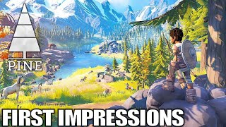New Open World Adventure Survival RPG | Pine | First Impressions Gameplay | Part 1