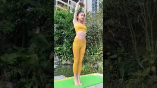 asian girl in pantyhose feet yoga
