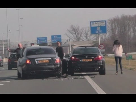 Crash Audi S5 Vs Bmw M5 Amp Rolls Royce Ghost Youtube
