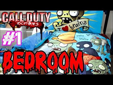 Call Of Duty Custom Zombies: Zombies In My Bedroom! Part 1▐ An Awesome Challenge Map! video