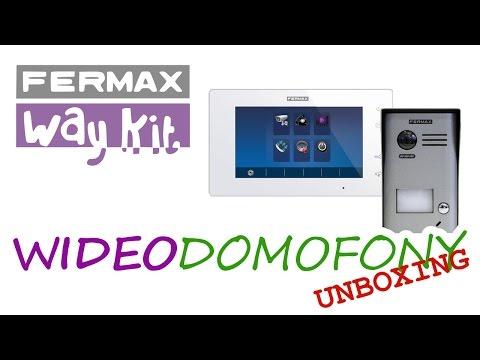 Wideodomofon FERMAX Way Kit 1401 - Odpakowanie Unboxing