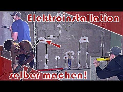 Elektroinstallation im Rohbau selber machen │ vorbereiten
