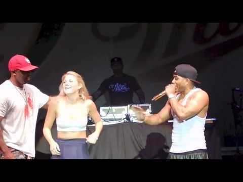 Girl Drops Down and Get Her Eagle On Stage At Summerfest with Nelly