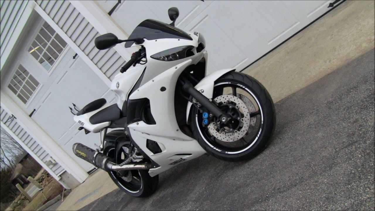 Custom White 2004 Yamaha R6 Street Bike Walk Around Youtube