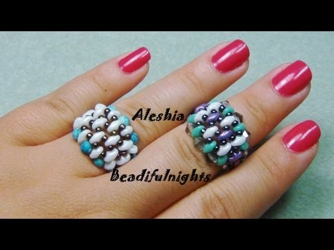 Bold Super Duo Beaded Ring Tutorial
