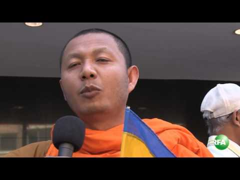 Kampuchea Krom Protesters demand release of two monks