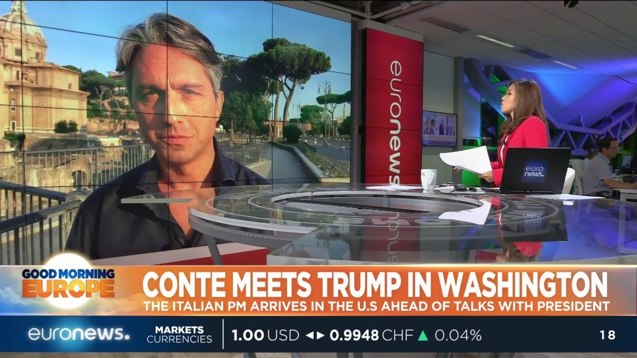 Conte meets Trump in Washington: The Itlaian PM arrives in the US ahead of talks with Trump