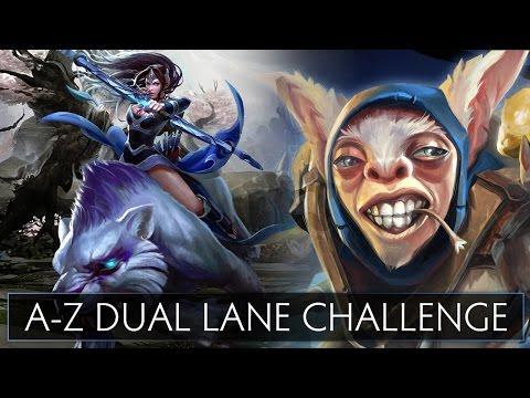 Dota 2 AZ Dual Lane Challenge  Meepo and Mirana
