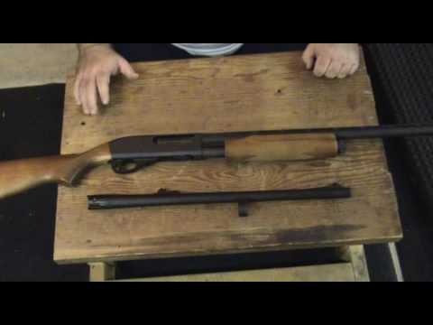 How to change shotgun barrels on the Remington 870 Express Super Magnum