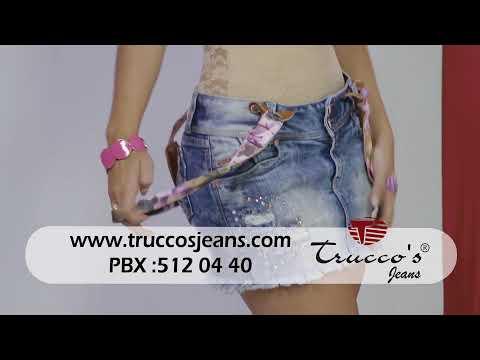 Truccos Jeans, viste a @felizecheverri en @un2x3tv - Falda con cargaderas 090814