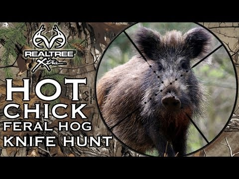Hot Chick Feral Hog Knife Hunt