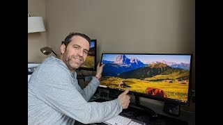 "LG 34UM61 34"" Ultra Wide Monitor Unboxing Review And Demo"
