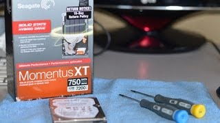 DIY Seagate Momentus XT 750gb Solid State Hybrid Drive Upgrade Install in MacbookPro