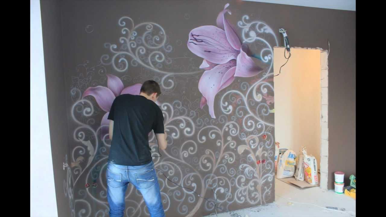 Работа художественная роспись стен