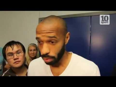 New-York red Bull  clash entre Thierry Henry et des journalistes du 10Sport