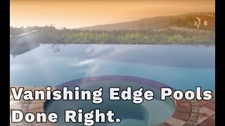 Building a vanishing edge pool. The Things you need to know