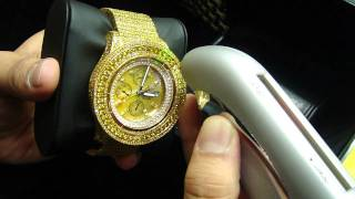 Mr Chris Da Jeweler Custom Real Diamond Bretling 42 Carat Yellow Diamond