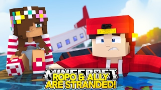 Minecraft Adventure - STRANDED AFTER THE PLANE CRASH!!!