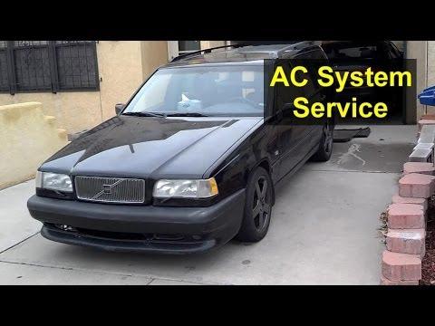 Basic AC Service. Volvo 850. S70. V70. XC70 - Auto Repair Series