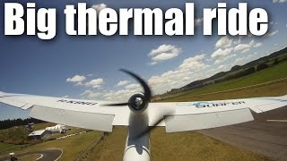 HK Cloud Surfer RC plane snags a big thermal
