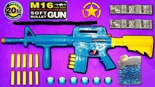Military M16 Toy Gun - Gel Ball Bullet Toy Rifle - Soft Darts Shooter