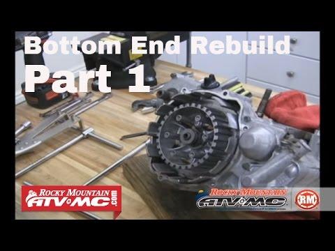 Motorcycle Bottom End Rebuild Part 1 (of 3) Engine Teardown