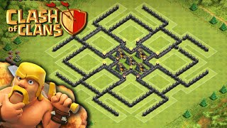 """SUPER LOOT!"" - Town Hall 9 FARMING STRATEGY (CoC TH9) BEST Farming Base Layout Defense 2015"