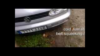VW TDi 90hp  ticking noise / bruit TDi 90cv