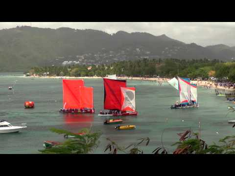 Martinique : Course de Yoles Sainte-Anne challenge 2012