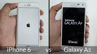 Samsung Galaxy A5 vs iPhone 6 Speed Test 4K