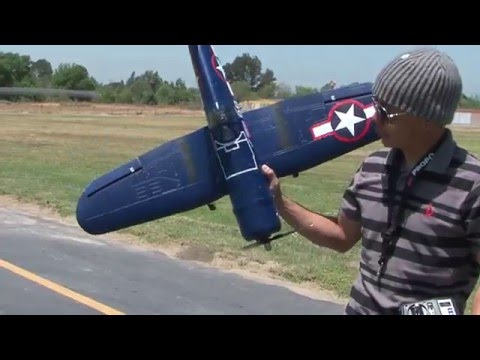 F4U Corsair Scale RTF 2.4GhZ Warbird Flight Review!  RTF Package!  bananahobby.com!  Blitzrcworks!