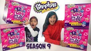 Wild Style Season 9 Shopkins Squishy Packs Surprise Blind Bags FULL BOX