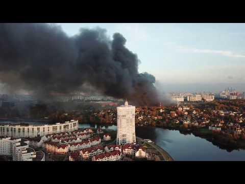 Пожар в торговом центре Синдика - 65 км МКАД 8.10.17