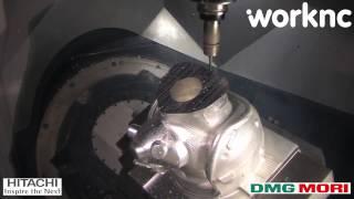 Pilot helmet 5 axis machining | WorkNC CAD-CAM