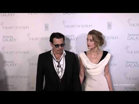 Johnny Depp and Amber Heard attended Art of Elysium gala