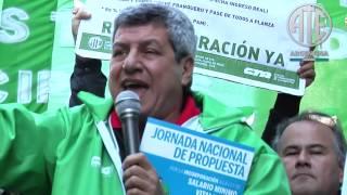 07 08 2014 ATE se movilizó en todo el país por salario mínimo para los estatales municipale Victor