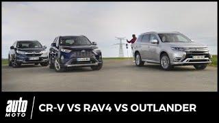 Toyota RAV4 / Honda CR-V / Mitsubishi Outlander PHEV : le match des SUV hybrides