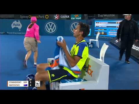 STAKHOVSKY (UKR) vs MATOSEVIC (AUS) FULL MATCH Apia International Sydney 2014