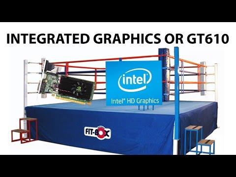 Nvidia GeForce GT610 vs Intel HD Graphics 2500