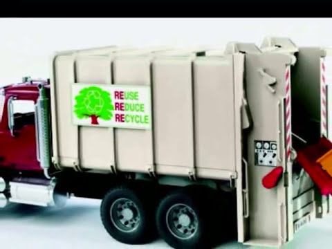 juguetes camiones de basura, dibujos animados para los niños