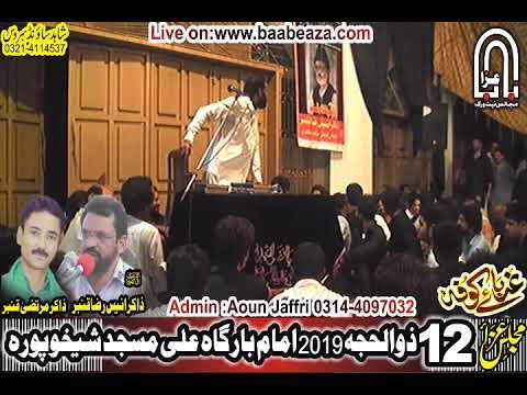 Zakir Habib Raza Haidery Yaadgar Majlis 12 Zuilhaj 2019 Ali Masjid Sheikhupura (www.baabeaza.com)
