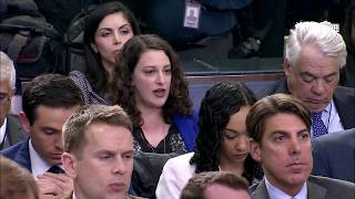 Sarah Sanders NERVOUSLY laughs when asked on Trump's 'Chaotic' White House