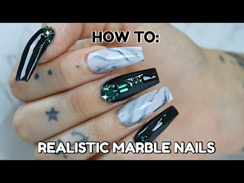 ACRYLIC MARBLE NAILS | NEW TECHNIQUE