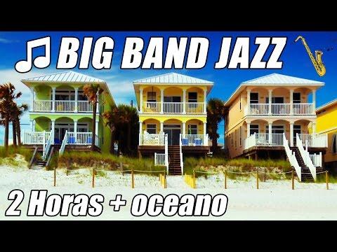 Music video Big Band Jazz Piano Musica instrumental canciones playlist 2 horas océano mezcla relajarse estudio - Music Video Muzikoo