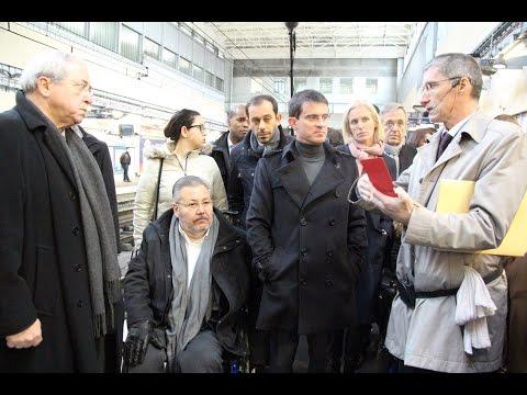 Evry - Manuel Valls inaugure l'accessibilité de la gare RER -061214