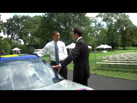 Under The Hood With Obama And NASCAR Champ Jimmie Johnson Video